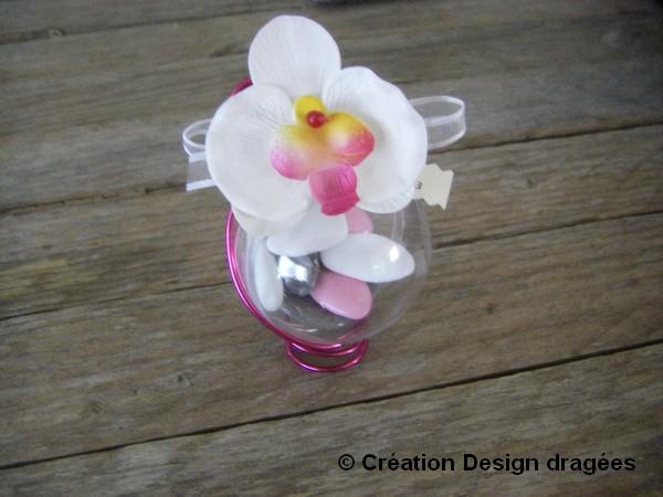 Boule à dragées orchidée