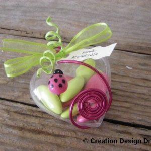 dragées coccinelle rose